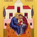 9 Aralık. Tanrı-doğuran bakire meryem'in kutsal ve erdemli ebeveyni aziz Yohakim ile azize Anna
