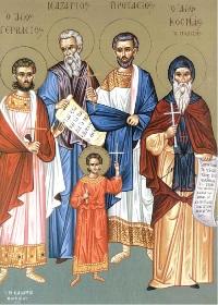 14 Ekim. Kutsal Şehitler Nazaryus, Gervase, Protasyus ve Kelsiyus ve Kutsal Şehirden saygıdeğer babamız, şair ve Maiyuma Piskoposu Kozmas
