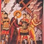 16 Ekim. Çarmıhtaki Yüzbaşı kutsal şehit Longinus