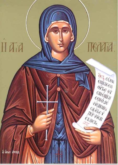 8 Ekim. Saygıdeğer annemiz Pelagiya