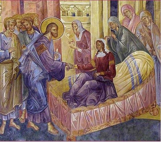 Luka 8. Bölüm  41O sırada, havra yöneticisi olan Yair adında bir adam gelip İsa'nın ayaklarına kapandı, evine gelmesi için yalvardı. 42Çünkü on iki yaşlarında olan biricik kızı ölmek üzereydi. İsa oraya giderken kalabalık O'nu her yandan sıkıştırıyordu. 43On iki yıldır kanaması olan bir kadın da oradaydı. Varını yoğunu hekimlere harcamıştı; ama hiçbiri onu iyileştirememişti.