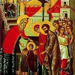 Tamamen kutsal Tanrıdoğuranın Tapınağa Girişinin Bayram Arifesi