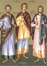 18 Kasım. Kutsal şehitler Plato ve Romanos
