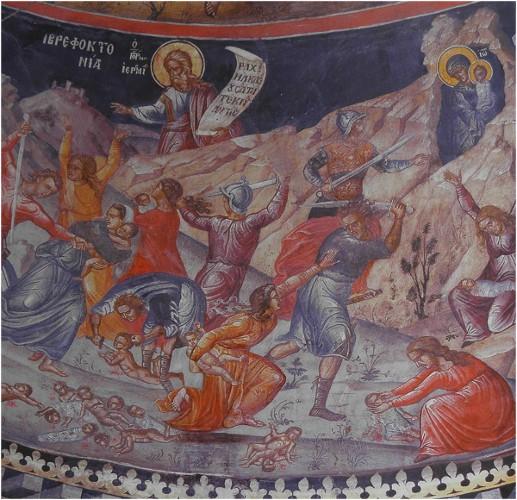 29 Aralık. Beytlehem'de Hirodes tarafından katledilen 14,000 kutsal Küçük