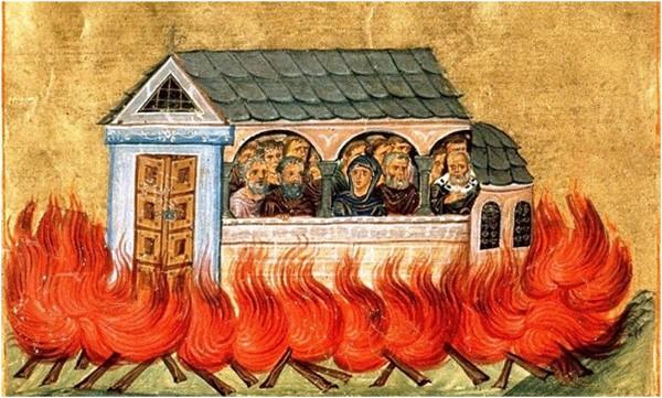 28 Aralık. Nikomedya'da yakılarak öldürülmüş 20,000 kutsal Şehit.
