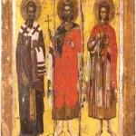 10 Aralık. Kutsal şehitlerden hoş sesli Menas, Hermoyenes ve Evgrafos