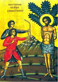 18 Aralık. Kutsal Şehit Sebastiyan ve arkadaşları