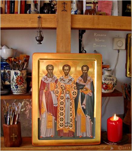 30 Ocak. Kutsallar ve Evrensel Öğretmenler arasındaki Babalarımız Yüce Vasil, Tanrıbilimci Gregori ve Yuhanna Hrizostomos