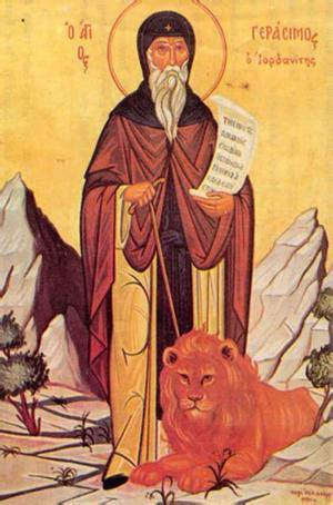 4 Mart Ürdünlü Aziz Gerasimos