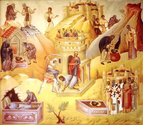 Öncü Peygamber Yuhanna'nın değerli başınin ilk ve ikinci kez bulunuşu