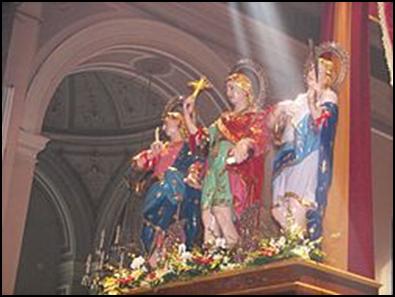 10 Mayıs Sicilya'nın Kutsal Şehitleri Alfeus, Filadelfus and Cyprinus
