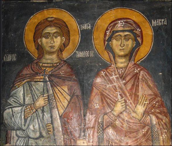 3 Mayıs Mısır'daki Antinoe'nin Şehitleri Okuyucu Timothy ve Eşi Azize Maura