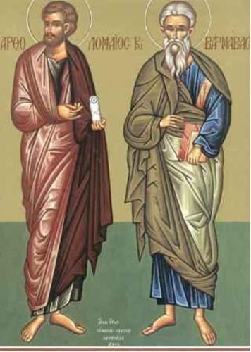 11 Haziran Kutsal elçiler aziz Bartalmay ve aziz Barnabas