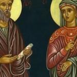 14 Temmuz Yetmişlerden Aziz Havari Akuila ve Azize Priskila