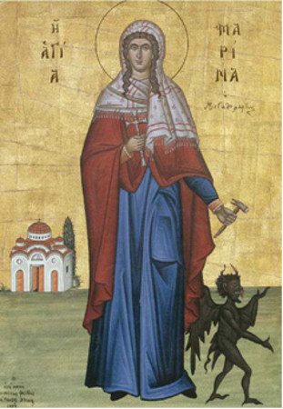 17 Temmuz Pisidya Antakyası'nın Büyük Şehidi Azize Marina (Margaret)