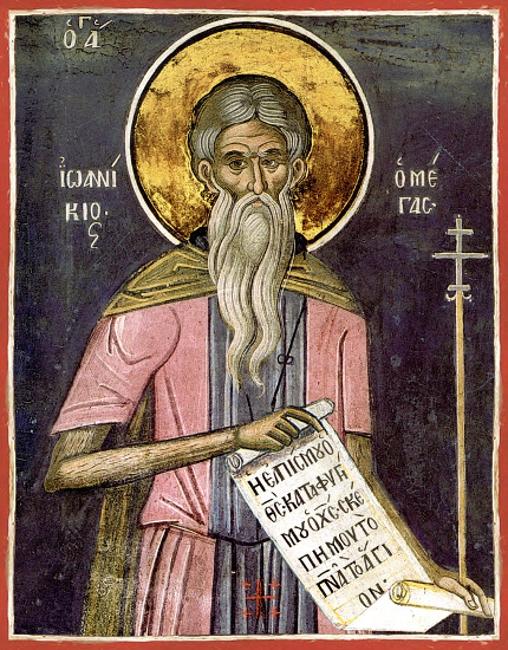4 Kasım  Kutsal Babamız Büyük İyoannikos, Olimpos Dağı Keşişi