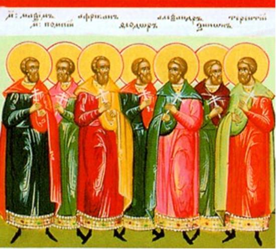10 Nisan Şehitler Terense, Afrikanus, Maksimus, Pompeius ve 36 diğer kişi, Kartaca'da başları kesildi