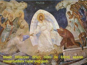Mesih dirildi