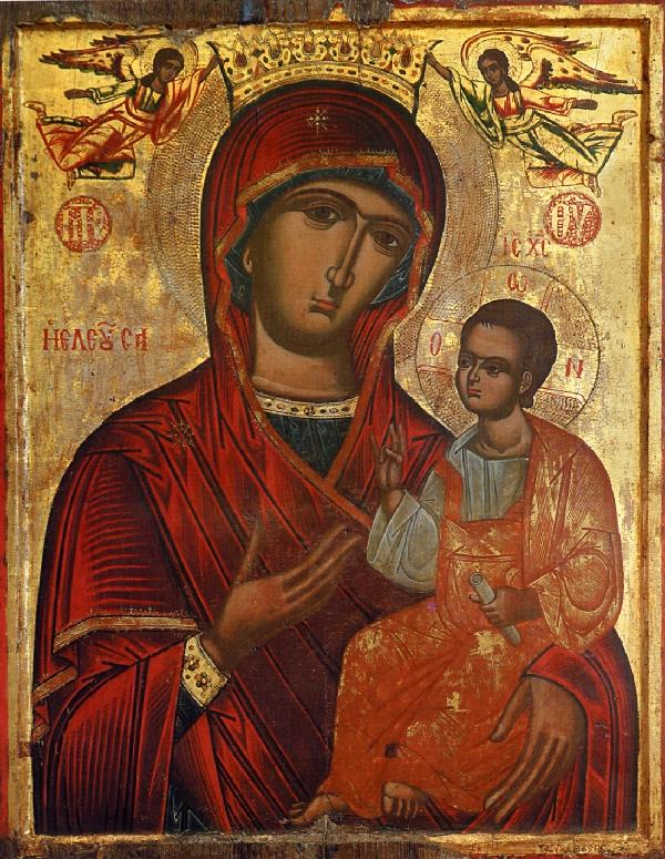 Tanrıdoğuran Meryem Ana'nın göğe kabulu için yazılan övgü Şamlı Aziz Yuhanna yazmıştır