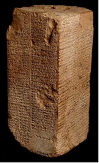 Weldi-Blundell prizması tufanla ilgili tarihsel bir kayıt mı?