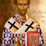 Aziz Yuhanna Hrisostomos'un kutsal emanetlerinin taşınması hakkında vaaz