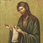 Aziz Peygamber öncü ve vaftizci Yahua'nın doğum günü için vaaz