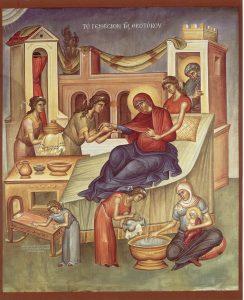 8 Eylül Pek Kutsal Validemiz, Tanrıdoğuran'ın doğumu